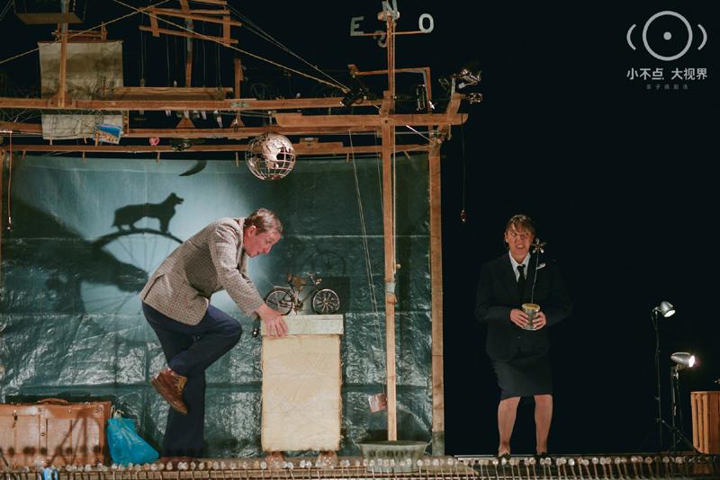 """9月,曾获法国最高戏剧荣誉""""莫里哀奖""""最佳儿童剧的《骑车看海去》,在北京天桥艺术中心的小不点大视界亲子微剧场上演"""